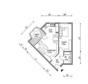 Modern und schick geschnittene 2-Zimmer-Wohnung mit Wintergarten in Hamm-Süden!