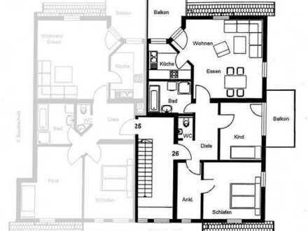 Helle ansprechende 3-Zimmer-Wohnung mit zwei Balkonen in Hochdorf