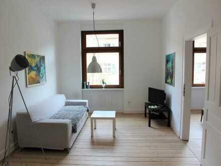Schöne 2-Zimmer-Wohnung mit Balkon, teilmöbliert in Karlsruhe, Mühlburg