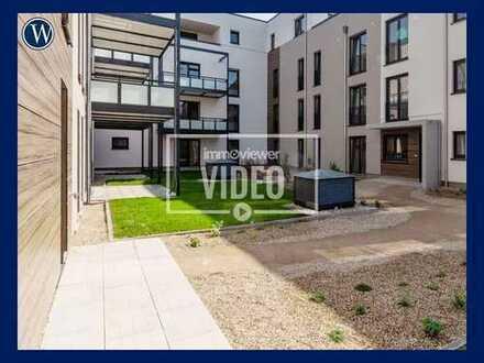 Terrassenwohnung im Neubau! Großer, heller Wohnbereich mit Terrasse und Einbauküche, 2 Bäder