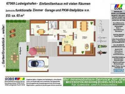 Edigheim - 1Famlienhaus mit vielen Räumen/Garten/Garage/Stellplätze/ruhige Lage/Terrasse,