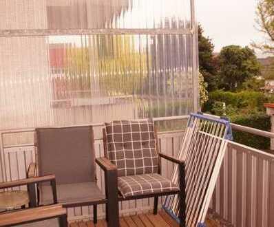 Helle 3 ZKB, Balkon mit großzügiger Raumaufteilung