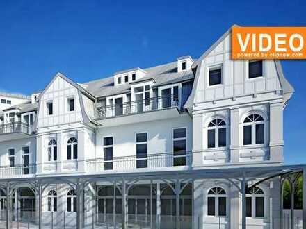 Bäderarchitektur+Sanierte denkmalgeschütze Villa+Balkon+50m zur Promenade und 100m zum Strand