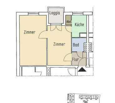 Helle 2-Zimmer-Wohnung mit Süd-/West-Loggia Nh. Osterbekkanal