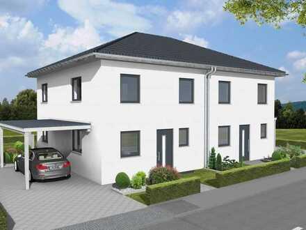 Moderne Doppelhaushälfte mit Keller, incl. 275m² Grundstück direkt in Laupheim