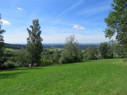 Freizeitgrundstück in absoluter ALLEINLAGE mit herrlicher Fernsicht ins Donautal Nähe Schloss Egg