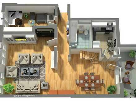 Gepflegte 3-Raum-Maisonette-Wohnung Balkon Tiefgaragenplatz Keller