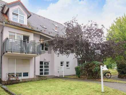Renditeobjekt: 2-Zi.-Erdgeschosswhg. mit Terrasse und TG-Stellplatz in ruhiger Lage von Merseburg