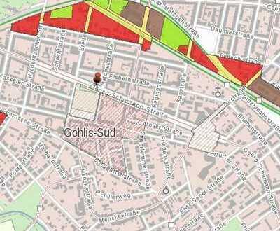 Baugrundstück in Leipzig-Gohlis ca. 900/1000 qm Wfl. mit positivem Bauvorbescheid inkl. TG