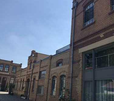 Exklusive, geräumige 2-Zimmer-Loft-Wohnung mit Dachterrasse und Einbauküche in Mainz-Kostheim/ WI