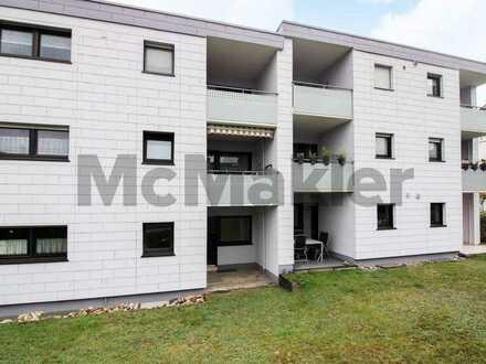 Gut geschnittene 2-Zi.-Erdgeschosswohnung mit Terrasse und Gestaltungspotenzial in guter Lage