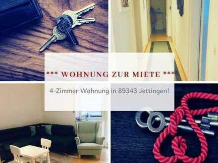 Nette 4-Zimmer Wohnung zur Miete in 89343 Jettingen-Scheppach.