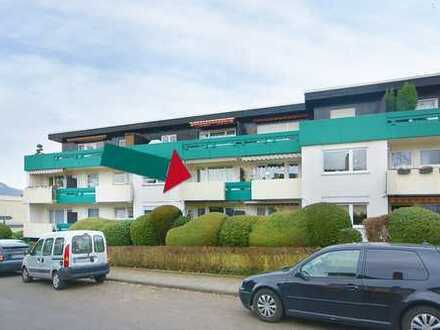 Schöne 2-Zimmer-Wohnung mit Balkon für alle, die mitten in der Stadt wohnen möchten.