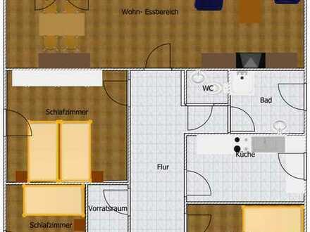 freundliche 4-Zimmer-Wohnung mit Balkon in Ober-Hilbersheim