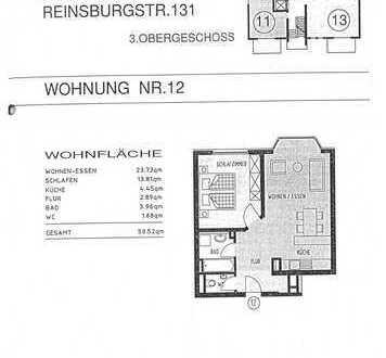 Exklusive, gepflegte 2-Zimmer-Wohnung mit EBK in Stuttgart