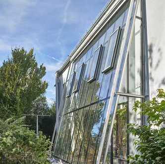 Solln-Großhesselohe: Architektenhaus nahe dem Isarhochufer