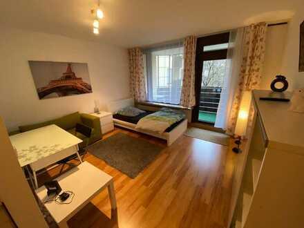 N-Kleinreutherweg ~ möbliertes 1-Zi-Apartment zum Sofortbezug ~ Balkon ~ Tiefgarage ~inkl.Strom&Int.