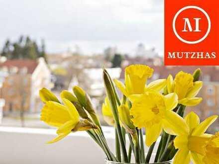 MUTZHAS - Helle und freundliche 3-Zi Wohnung mit zwei Süd-Loggien über den Dächern von Laim