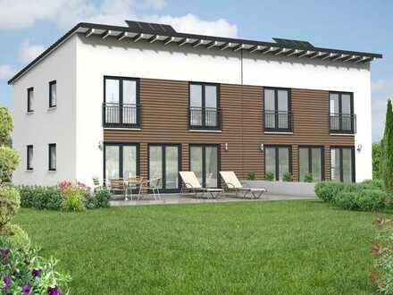 Grundstück, moderne Doppelhaushälfte mit Pultdach, KfW55 mit Garage, ruhig u. doch zentral gelegen