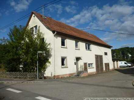 Älteres Wohnhaus mit Ökonomie, Werkstatt und 3 Garagen in DS-Neudingen