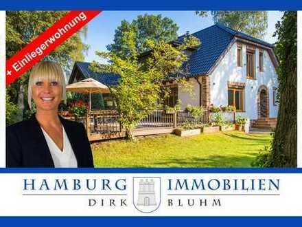 Schönes Einfamilienhaus mit Einliegerwohnung und großem Grundstück in 22041 Hamburg Marienthal