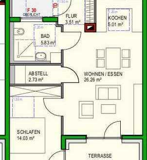 *Seniorenwohnung* Neubau: barrierefreie 2-Zi-Whg mit Terrasse, Aufzug, Tiefgar. und Hausmeisters.