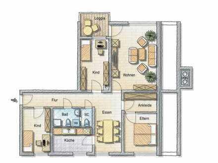 4,5-Zimmer-Wohnung als Studenten-WG zu vermieten mit Balkon und EBK in Karlsruhe-Neureut