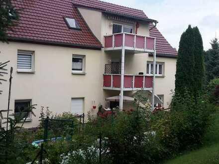 Schöne 3-Zimmer-Wohnung mit Balkonterrasse und Gartenhaus