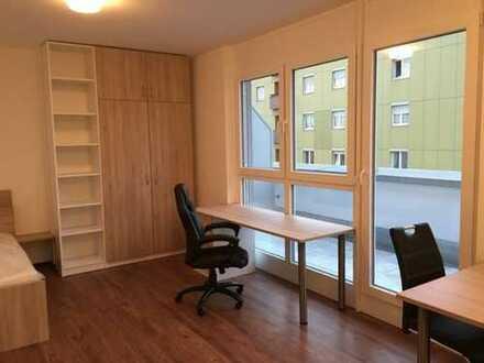 Moderne vollmöblierte 1-Zimmer-Wohnung mit Balkon, Einbauküche, Internet in Top Lage in Ingolstadt