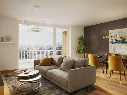 4-Zimmer-Wohnung mit Gäste-WC, und Balkon