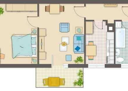 Vermietete, modernisierte 2-Zimmer-DG-Wohnung mit Balkon und Einbauküche in Ludwigsburg