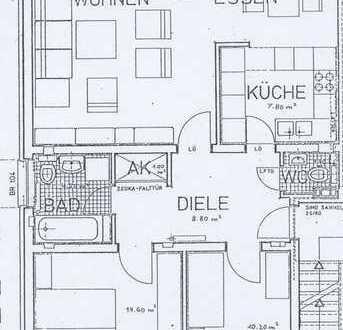 Schöne drei Zimmer Wohnung (80m²) in Bochum-Hiltrop