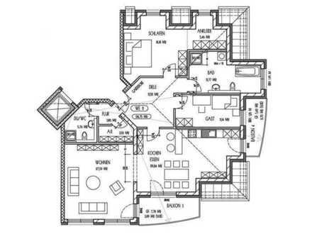 Hochwertige 3 Zimmer Dachgeschosswohnung zur Miete