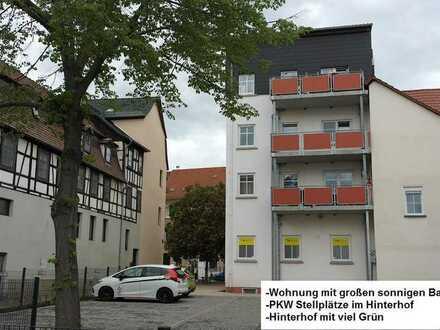 Sanierte 4-Raum-Wohnung mit Balkon in Ronneburg