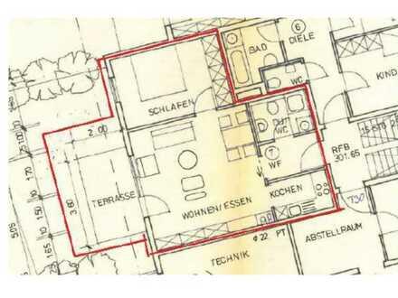 Exklusive, modernisierte 2-Zimmer-Terrassenwohnung mit Balkon in Murrhardt