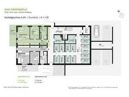 A.01 - 2 Zimmerwohnung im Sockelgeschoss mit W-Ausrichtung - HAUS WIESENQUELLE Feldberg