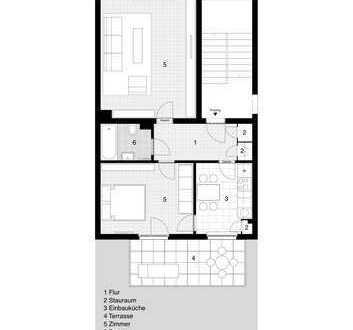 Helle Wohnung Innenstadt-, Bahnhofs- und Parknah
