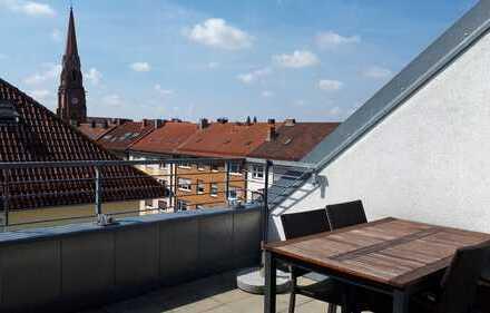 Lichtdurchflutete 4-Zimmer-Wohnung über den Dächern Nürnbergs