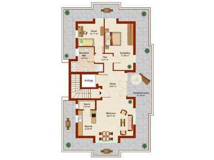 Reserviert! - Neubau! KfW 55! Provisionsfrei - Wohnen am Wasserwerk - 3 Zimmer-Penthouse-ETW