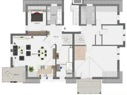 NEUBAU - Schicke, großzügige 4 Zimmer ETW im DG mit Galerie im Spitzboden
