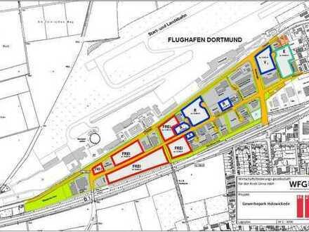 Gewerbegrundstück direkt am Flughafen Dortmund - Holzwickede - Beste Verkehrsanbindung!!!