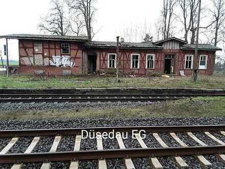 "Bahnhofsgebäude ""Düsedau"" und Güterschuppen"