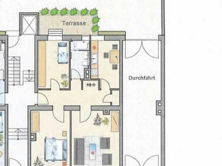 Helle, vollständig renovierte 3-Zimmer-Erdgeschosswohnung mit Terrasse in Nürnberg