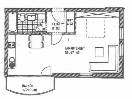 Vermietetes Appartement in Michendorf mit Balkon