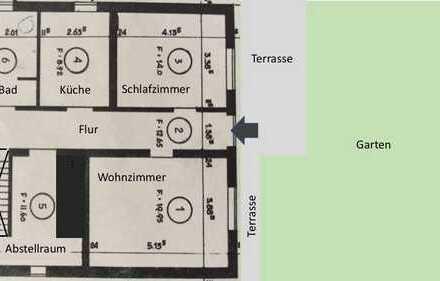 2-Zimmer-EG-Wohnung mit EBK, Terrasse und See-/Bergblick in Markdorf