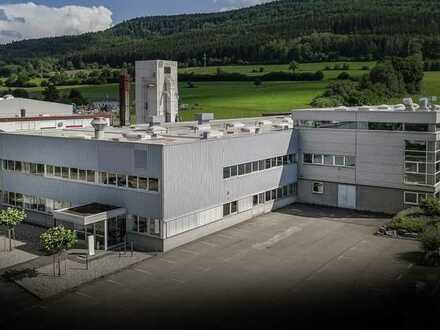 Spaichingen : Betriebsgebäudekomplex mit Büro-u. Sozialräumen, Lager- u. Produktionshalle + Parkpl.