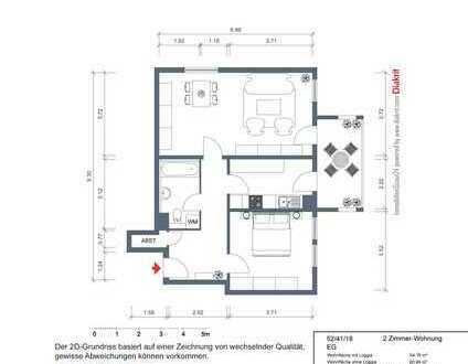 2-Zimmer-Ergeschosswohnung
