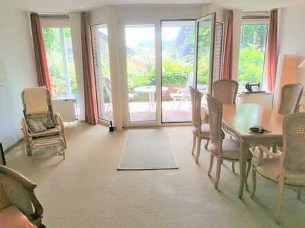 Stilvolle, gepflegte 3-Zimmer-Erdgeschosswohnung mit Terrasse und Garten