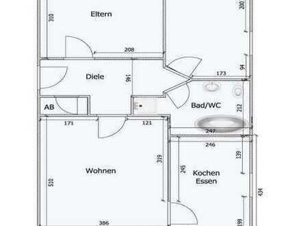 Gepflegte 3-Zimmer-EG-Wohnung mit Terrasse und Einbauküche in Wolnzach