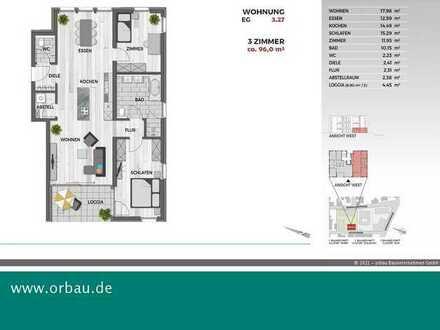Oase Zollburg: Essen-Kochen-Wohnen-Loggia - alles im Blick